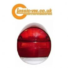 Beetle Rear Light Lense 72-79 Red/Clear 135945223RC